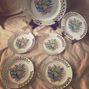 Vintage Dinnerware ceramics set of six plates